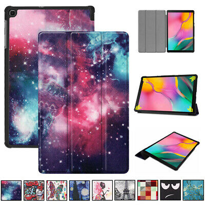 For Samsung Galaxy Tab A 10.1 SM-T515 T510 Pattern Smart Flip Leather Case Cover
