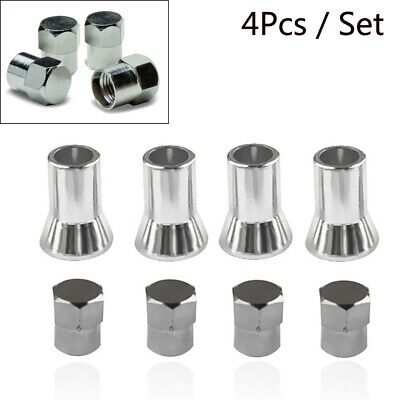 4Pcs Tpms Tire Valve Stem Cap With Sleeve Cover Chrome American For Car Truck