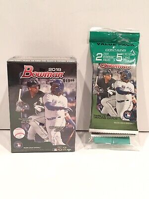 2019 Bowman Baseball Blaster Box + 1 Value Pack w/ 5 Camo Parallel Cards