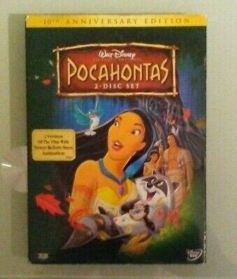 walt disney POCAHONTAS 10th anniversary edition DVD NEW slipcover edge scuffing
