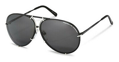 NEW Porsche P8478-J-6910 Black Silver 69mm Sunglasses