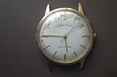 Vintage  Seiko Chrono Dia Shock 17Jewels Gold Plated In Working Order Wristwatch