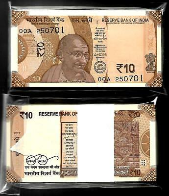"""Rs 10// INDIA Banknote NEW Issue NEW PATTERN 2017 Latest Issue /""""0AA/"""" PREFIX"""