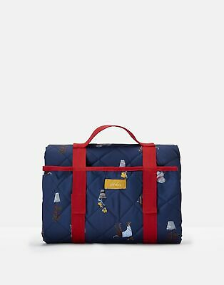 Joules Picnic Printed Water Resistant Rug ONE in BLUE DOGS in One Size