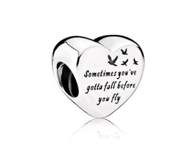 AUTHENTIC PANDORA CHARM HEART OF FREEDOM 791967 Sometimes you've gotta fall