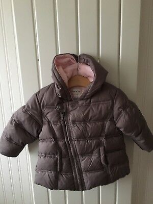 Baby Girl's Clothes 12-18 Mths - Brown Fleece Lined Hooded Coat By NEXT 🐙🐙🐙