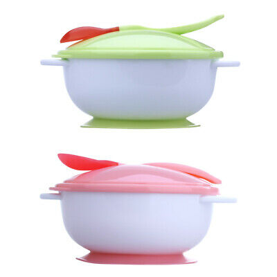 Baby Infants feeding Bowl With Sucker and Temperature Sensing Spoon