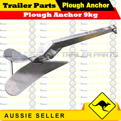 Plough Anchor to Suit 8 metre Boat Quality *Lead Filled Tip* 9kg 20lb Sand / Mud