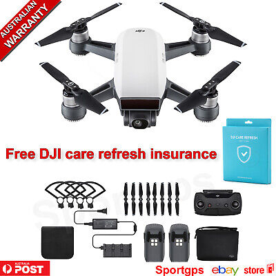DJI Spark Drone Fly More Combo Camera Alpine White +FREE CARE REFRESH save $100