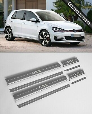VW Golf Mk7 GTi (Released 2013) 4 Door Stainless Sill Protectors / Kick Plates