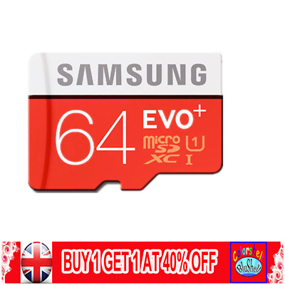 Samsung Memory 64GB EVO+ Micro SD Card Class 10 with Adapter UK Seller