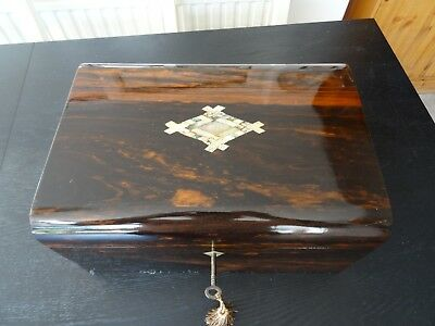 Antique Victorian Writing Slope/Box (034)