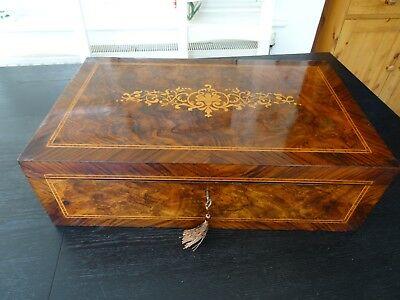 Antique Writing Slope with Secret Drawers (081)