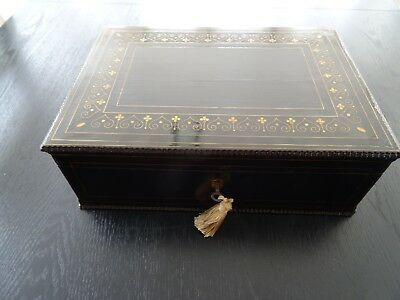 Antique Elbony Writing Slope (024A)