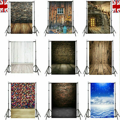5x7FT/10x10FT Family Wall Photo Backdrops Cloth Wooden Studio Background Prop UK