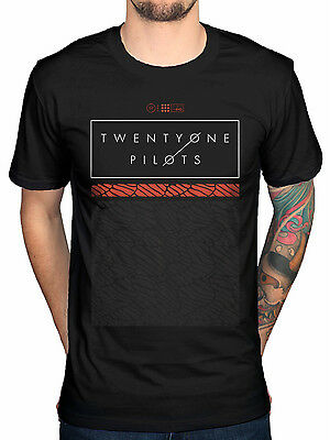 Official Twenty One Pilots Scale Pattern Strip T-shirt New Blurryface Regional