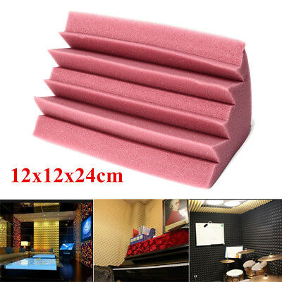 4 Pack 4.7 x 4.7 x 9.4'' Corner Bass Trap Acoustic Studio Foam Sound Absorber