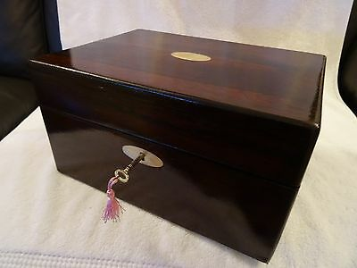 Antique Victorion  Rosewood & Mother Of Pearl Vanity Case   (126)