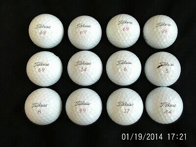TITLEIST pro v1x 2018 HIGH NUMBERS x 12 grade 1 great condition