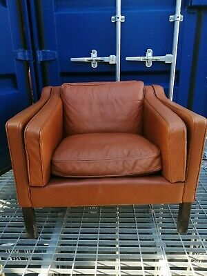 Vintage Danish Mid-Century Borg Mogensen/Stouby style Leather Armchair