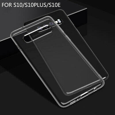Clear Case For Samsung Galaxy S10 +Plus S10e Silicone Gel TPU Shockproof Tough