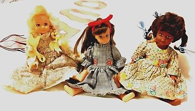 Rare vintage Set of 3 Horseman dolls, Matilda and two others