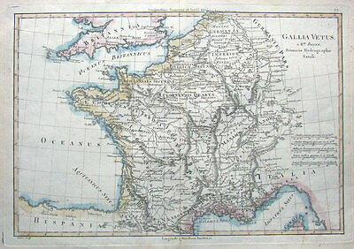 FRANCE  R.Bonne original  antique map  c1770