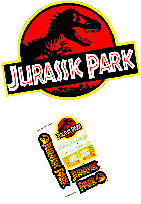 Kenner Jurassic Park Jungle Explorer DIE CUT gloss vinyl custom repro stickers