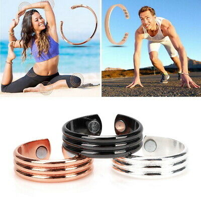 Copper Magnetic Health Ring Magnets Arthritis Therapy Pain Relief Healing Gift