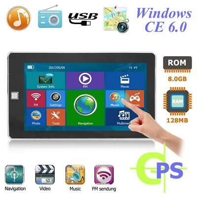 7 inches Car GPS Navigation Navigator 128MB+8GB Support Memory Card+Europe Map