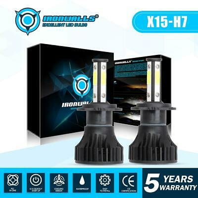 4-sides H7 CREE LED Headlight Kit 1900W 6000K 285000LM Replace Xenon HID Bulbs