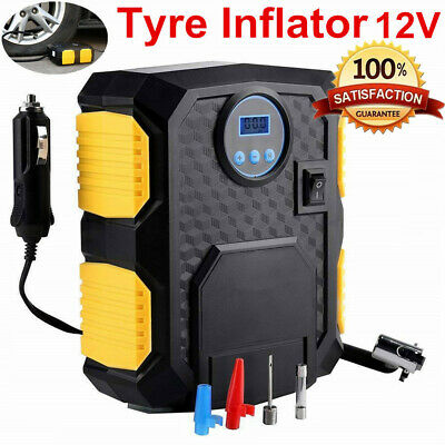 Portable 12V Car Truck Van Digital Tyre Tire Inflator Air Compressor Pump 150PSI