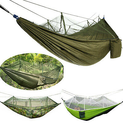 Double Outdoor Person Travel Camping Tent Hanging Hammock Bed Wi Mosquito Net