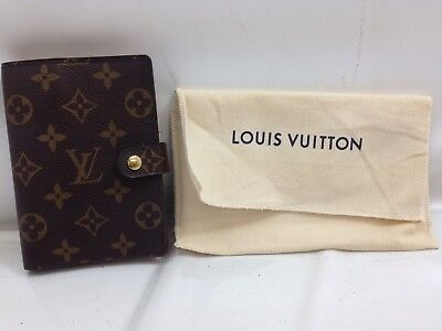 Authentic Louis Vuitton Monogram Agenda PM Day Planner Cover Brown 8K150780N""