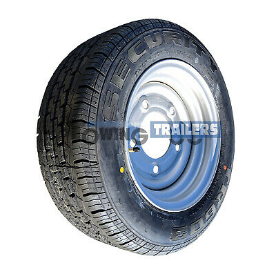 """185/60R12C commercial trailer tyre & 5 stud 6.5"""" PCD Wheel Rim fit ifor williams"""