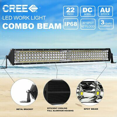 "22Inch CREE LED Light Bar Spot Flood Offroad Driving Work 4x4 Truck 20"" 23"""