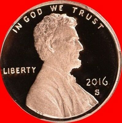 2016 S Lincoln Shield Cent ** PROOF ** Deep Cameo 1¢