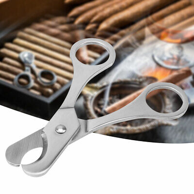 Pocket Portable Stainless Steel Double Blade Cigar Cutter Knife Scissors Tool BE