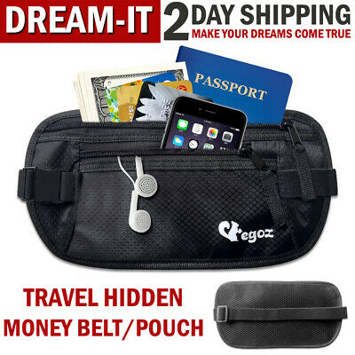 Travel Money Belt RFID Block Security Wallet Waist Pack Hidden Pocket Safe Pouch