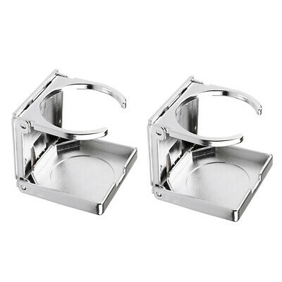 Silver Cup Holder for Car Boat Foosball Table Kayak 2PCS Space-saving Practical