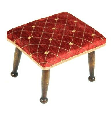 Antique Mahogany Foot Stool - FREE Shipping [5119]