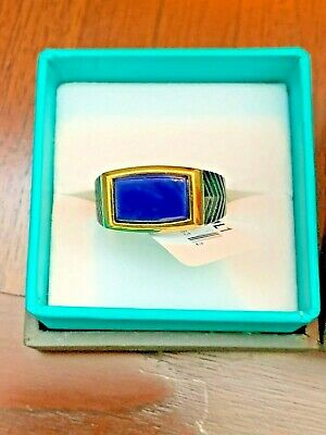 Spectacular Effy Sterling Silver & Lapis Men's Ring Band New NIB 60% off!