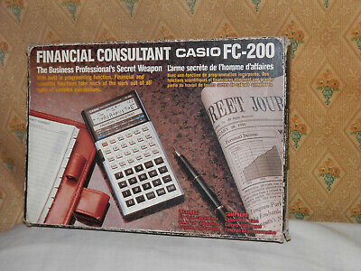 Casio Financial Consultant FC-200 - Vintage Calculator with Box and Manual
