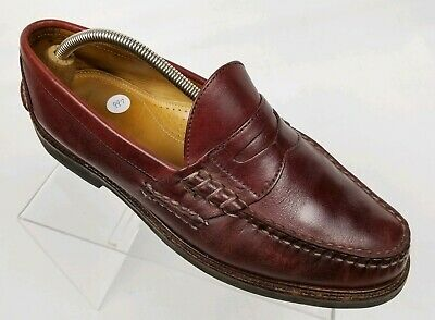 bde191091ad ALDEN Cape Cod Collection Beefroll Men s Penny Loafers Burgundy Vibram Sz  11D