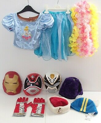 Large Bundle of Fancy Dress Hats Cinderella Top Garlands Power Rangers Masks