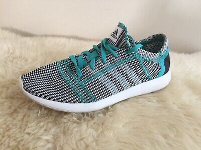new product 38d2e 678a1 ADIDAS Element Refine RUN NATURAL SHOES (Womens 7) White black teal Mesh