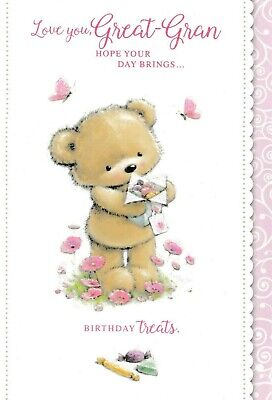 cute GREAT-NANNA glitter birthday card great nanna 2 x cards to choose from!