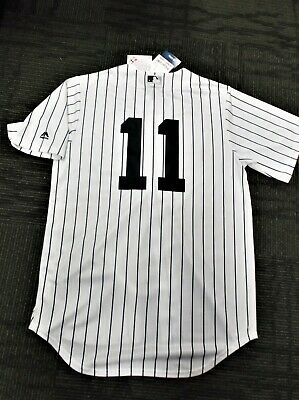 216d73cc0 Brett Gardner   11 NY Yankees Majestic Cool Base Home Jersey 8 FREE VINTAGE  CDS
