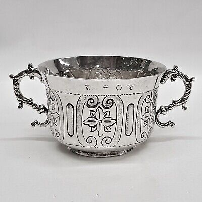 Antique Commonwealth Period Silver Porringer by CHRISTOPHER SHAW. Stock ID 9384