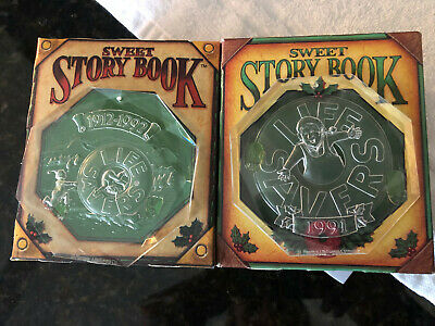 Life Savers Sweet Storybook 1991 & 1992 Limited Edition Boxes with Ornaments